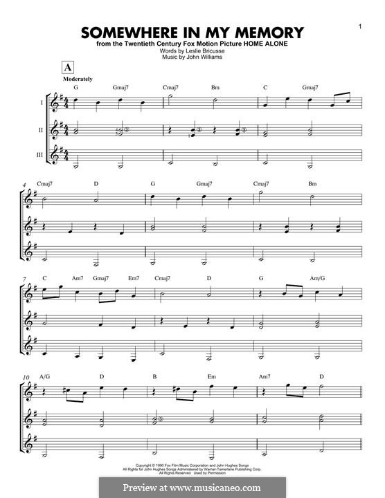 Somewhere in My Memory: For any instrument by John Williams