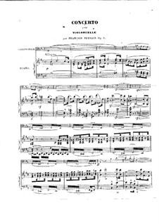 Концерт для виолончели с оркестром си минор, Op.5: Версия для виолончели и фортепиано by Адриен Франсуа Серве
