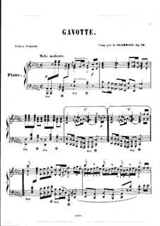 Гавот соль минор, Op.14: ля-бемоль минор by Джованни Сгамбатти