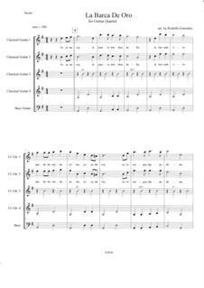 La Barca de Oro: For guitar quartet by folklore