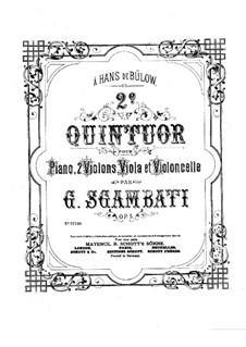 Фортепианный квинтет No.2 си-бемоль мажор, Op.5: Партитура by Джованни Сгамбатти