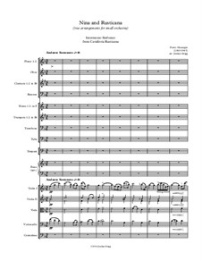 Nina and Rusticana (two arrangements for small orchestra): Nina and Rusticana (two arrangements for small orchestra) by Джованни Баттиста Перголези, Пьетро Масканьи
