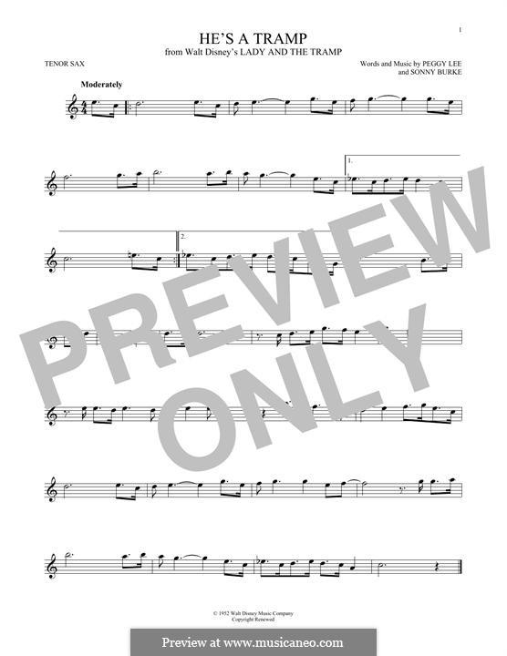 He's a Tramp: Для тенорового саксофона by Sonny Burke