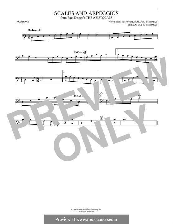 Scales and Arpeggios: For trombone by Richard M. Sherman, Robert B. Sherman