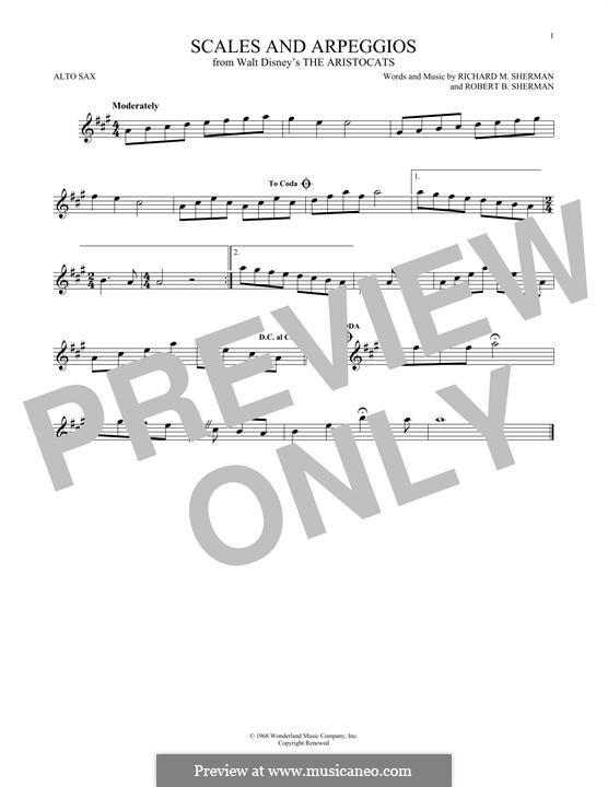 Scales and Arpeggios: Для альтового саксофона by Richard M. Sherman, Robert B. Sherman