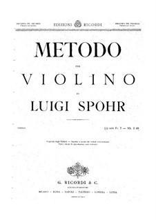 Школа игры на скрипке: Итальянская версия by Луи Шпор