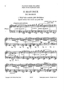 О матери, Op.28: О матери by Йосеф Сук