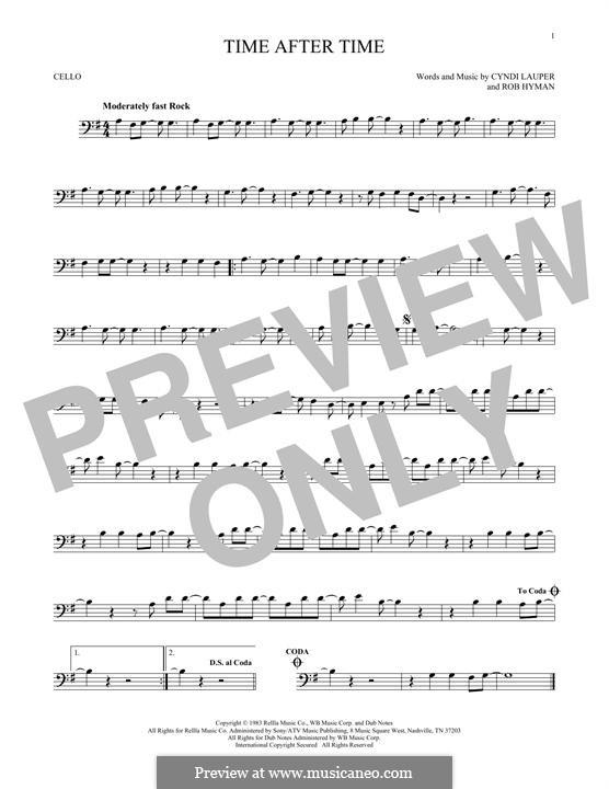 Time after Time: Для виолончели by Cyndi Lauper, Robert Hyman