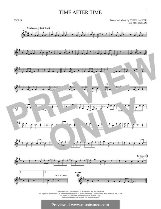 Time after Time: Для скрипки by Cyndi Lauper, Robert Hyman