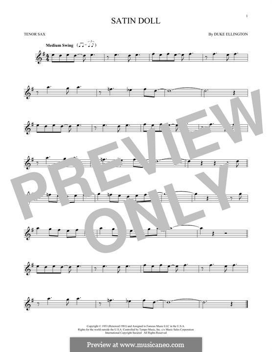 Satin Doll: Для тенорового саксофона by Billy Strayhorn, Duke Ellington