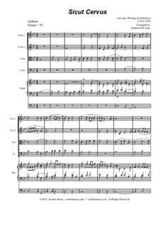 Sicut cervus: For string quartet and organ by Джованни да Палестрина