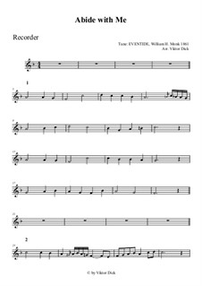 Пребудь со мной: Для блокфлейты by Уильям Генри Монк