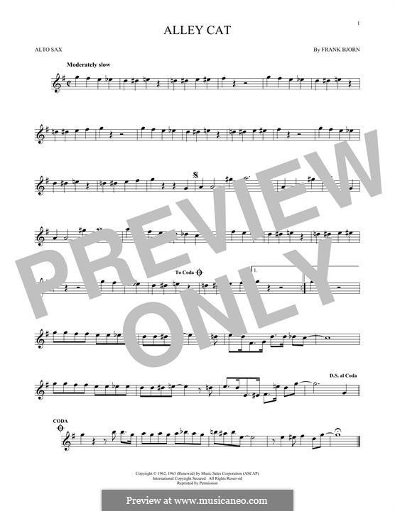 Alley Cat: Для альтового саксофона by Frank Bjorn