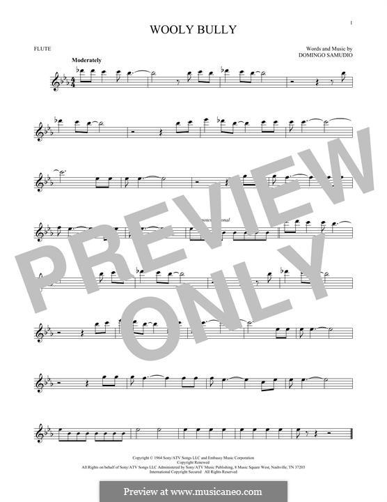 Wooly Bully (Sam the Sham & The Pharaohs): Для флейты by Domingo Samudio