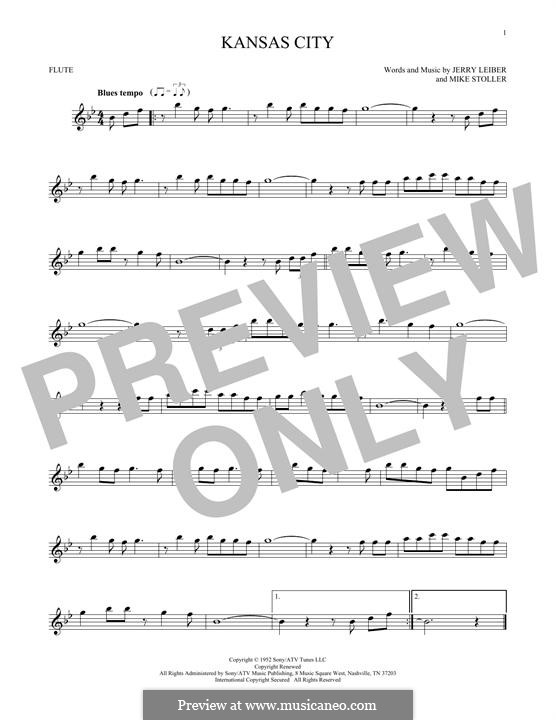 Kansas City: Для флейты by Jerry Leiber, Mike Stoller