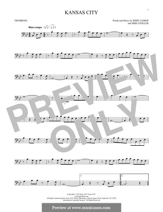 Kansas City: For trombone by Jerry Leiber, Mike Stoller