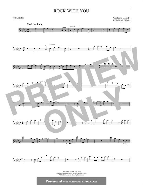 Rock with You (Michael Jackson): For trombone by Rod Temperton