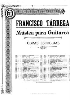 Воспоминания об Альгамбре: Для гитары by Франсиско Таррега