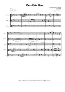 Exsultate Deo: Для струнного квинтета by Джованни да Палестрина