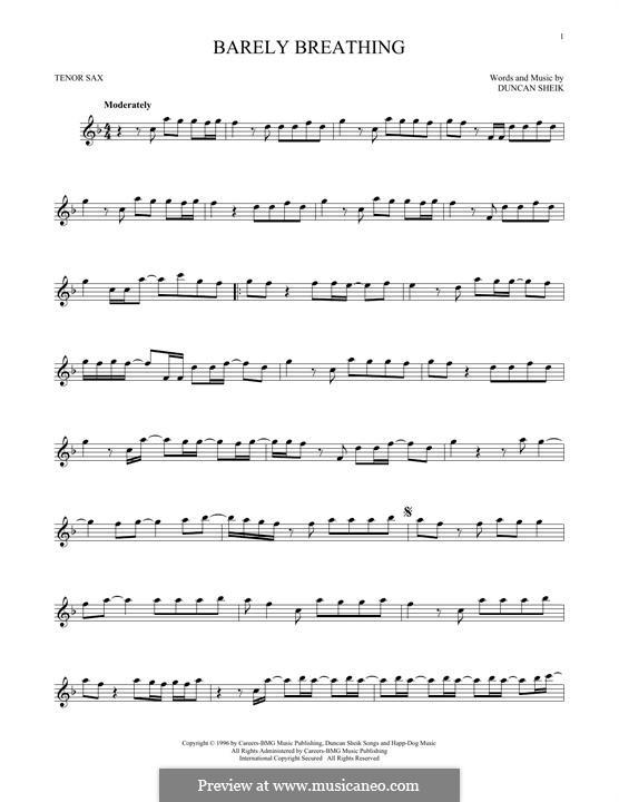 Barely Breathing: Для тенорового саксофона by Duncan Sheik