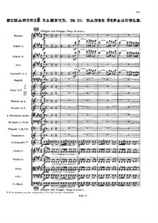 No.21 Испанский танец: Партитура by Петр Чайковский