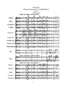 Концерт для фортепиано с оркестром No.1 си-бемоль минор, TH 55 Op.23: Часть I by Петр Чайковский