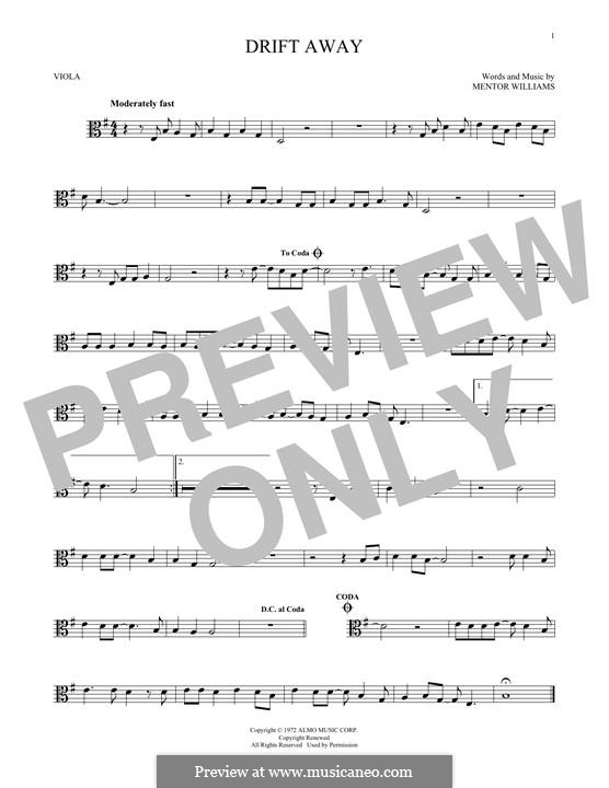 Drift Away (Dobie Gray): For viola by Mentor Williams