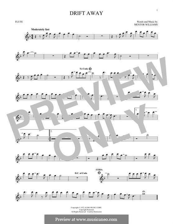 Drift Away (Dobie Gray): Для флейты by Mentor Williams