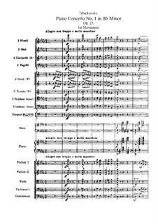 Концерт для фортепиано с оркестром No.1 си-бемоль минор, TH 55 Op.23: Партитура by Петр Чайковский