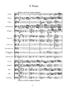 Симфония No.3 ре мажор 'Польская', TH 26 Op.29: Часть V by Петр Чайковский