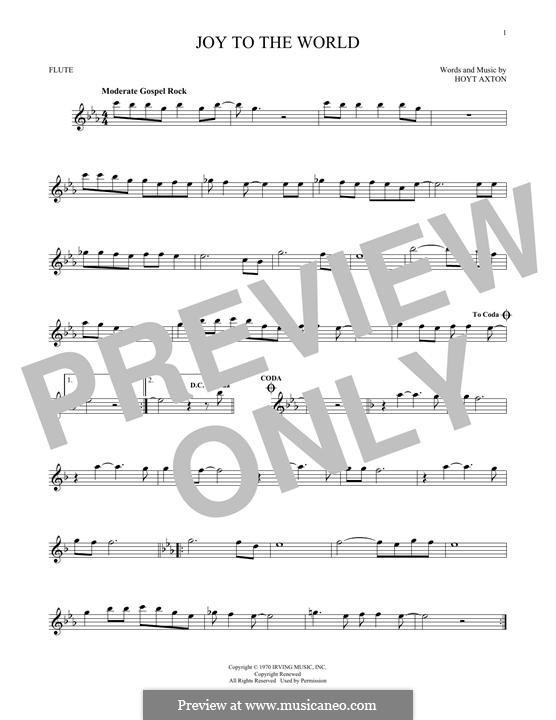 Joy to the World (Three Dog Night): Для флейты by Hoyt Axton