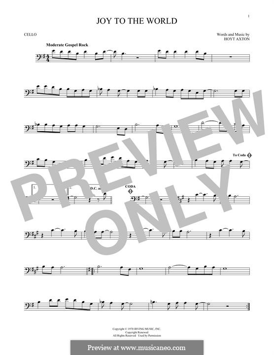 Joy to the World (Three Dog Night): Для виолончели by Hoyt Axton