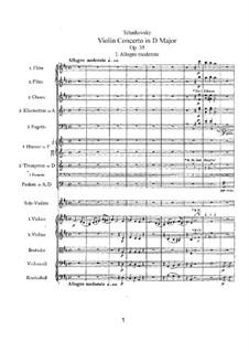 Концерт для скрипки с оркестром ре мажор, TH 59 Op.35: Часть I by Петр Чайковский