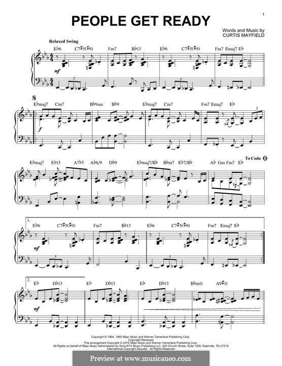People Get Ready (Eva Cassidy): Для фортепиано by Curtis Mayfield