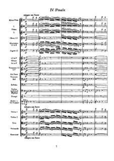 Симфония No.4 фа минор, TH 27 Op.36: Часть IV by Петр Чайковский