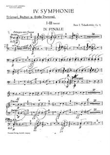 Симфония No.4 фа минор, TH 27 Op.36: Партии ударных by Петр Чайковский