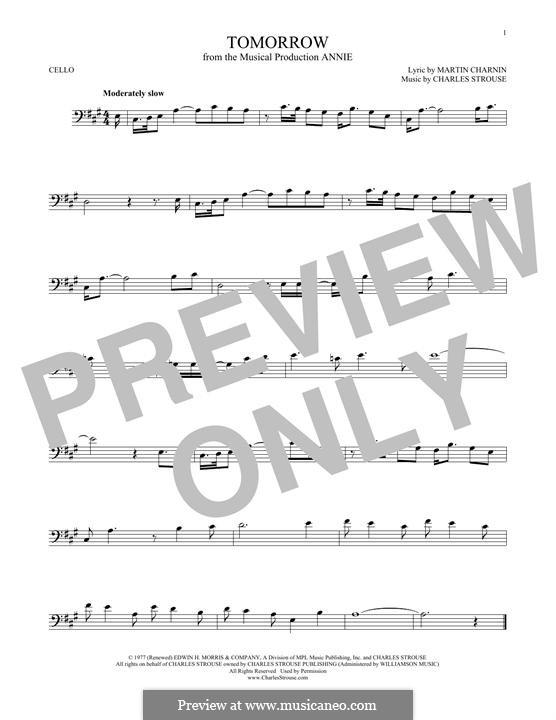 Tomorrow (from Annie): Для виолончели by Charles Strouse