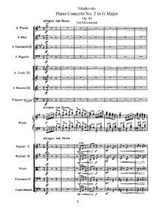 Концерт для фортепиано с оркестром No.2 соль мажор, TH 60 Op.44: Часть III by Петр Чайковский