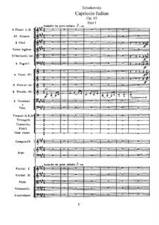 Итальянское каприччио, TH 47 Op.45: Часть I by Петр Чайковский