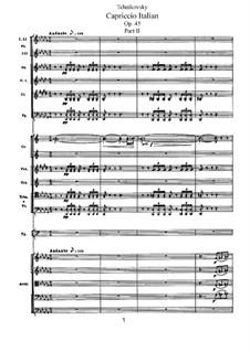 Итальянское каприччио, TH 47 Op.45: Часть II by Петр Чайковский
