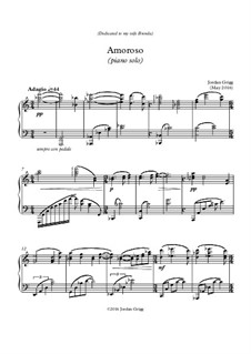 Amoroso (piano solo): Amoroso (piano solo) by Jordan Grigg