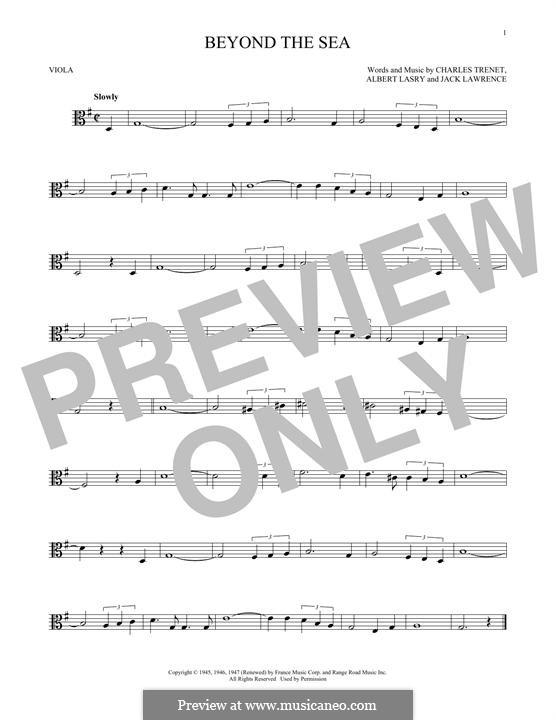 Beyond the Sea: For viola by Albert Lasry, Charles Trenet