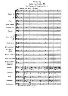 Сюита No.3 соль мажор, TH 33 Op.55: Часть IVa by Петр Чайковский