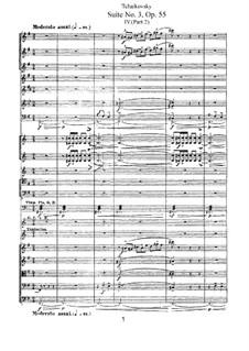 Сюита No.3 соль мажор, TH 33 Op.55: Часть IVb by Петр Чайковский