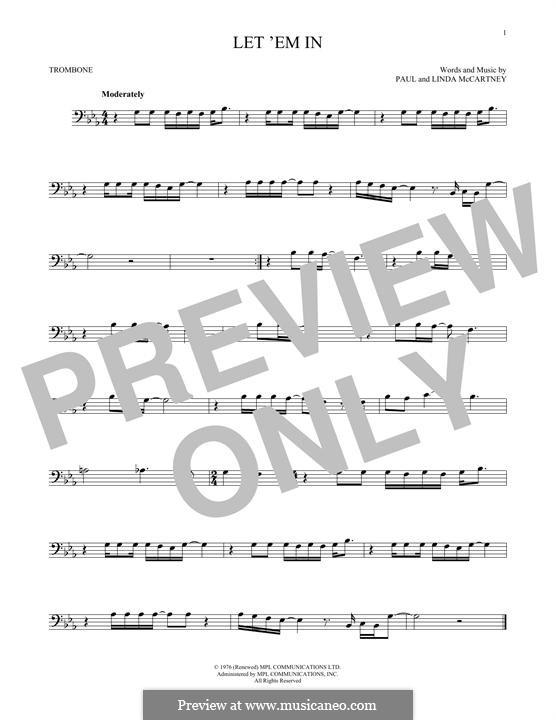 Let 'Em in (Wings): For trombone by Linda McCartney, Paul McCartney