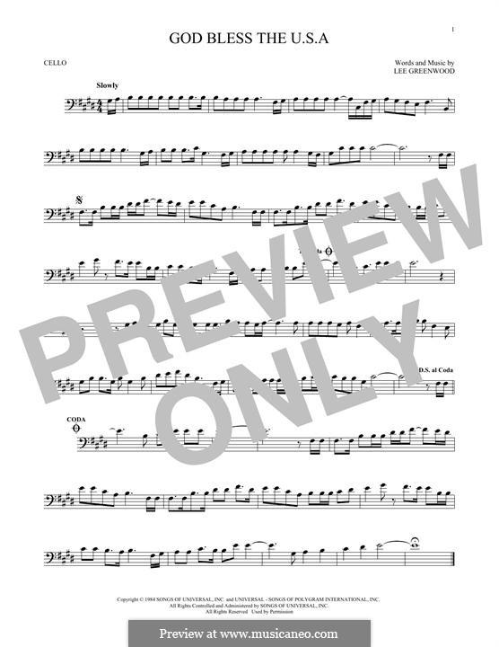 God Bless the U.S.A.: Для виолончели by Lee Greenwood