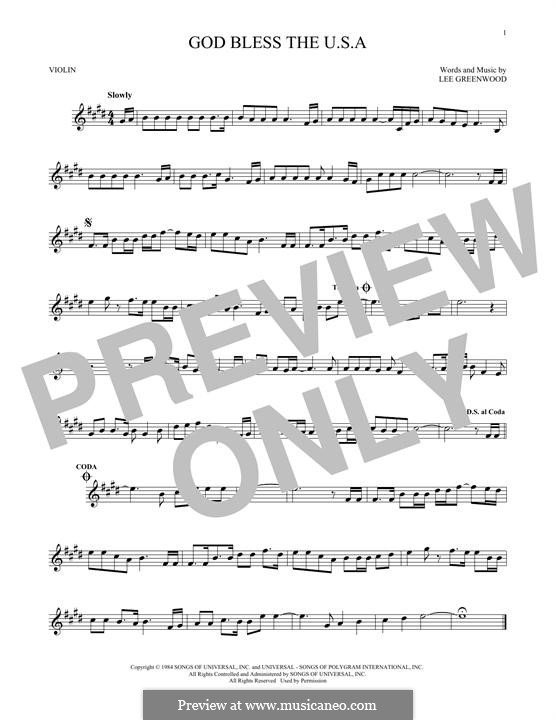God Bless the U.S.A.: Для скрипки by Lee Greenwood