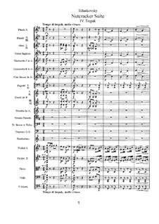 No.4 Русский танец (Трепак): Партитура by Петр Чайковский