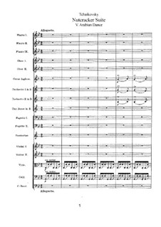 No.5 Арабский танец: Партитура by Петр Чайковский