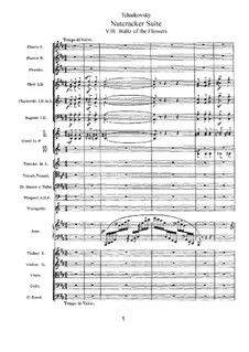 No.8 Вальс цветов: Партитура by Петр Чайковский